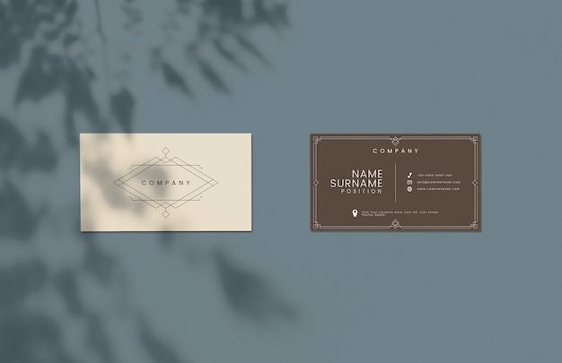 Классический дизайн макета визитки Бесплатные Psd
