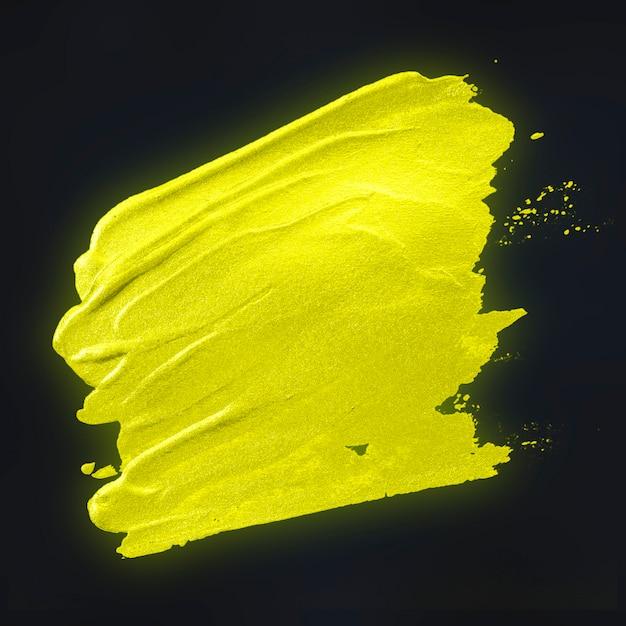 Желтый фон мазка кистью Бесплатные Psd