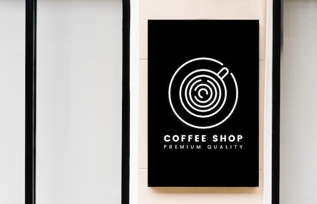 Минимальная кофейня знак макет Бесплатные Psd
