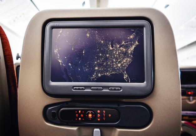 Развлекательный визуальный экран на самолете Бесплатные Psd