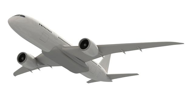 Трехмерное изображение самолета Premium Psd
