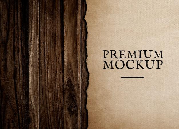ビンテージ紙モックアップイラストレーション Premium Psd