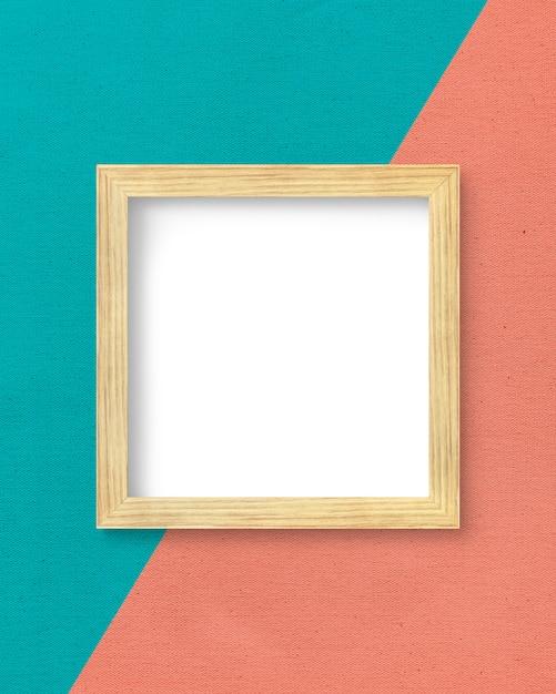 Рамка на двухцветной стене Бесплатные Psd