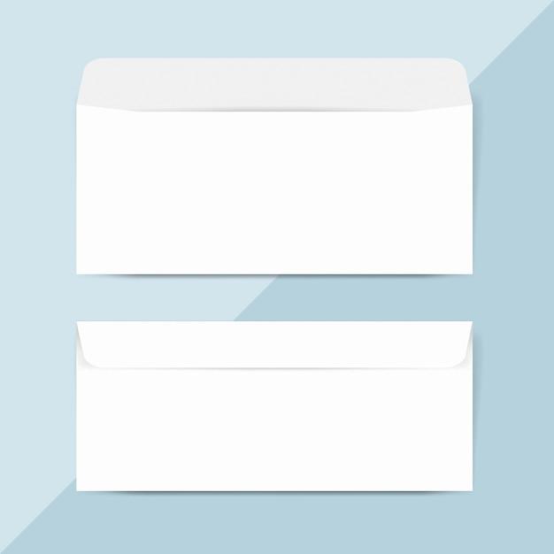 Обычная бумага конверт дизайн макет вектор Бесплатные Psd