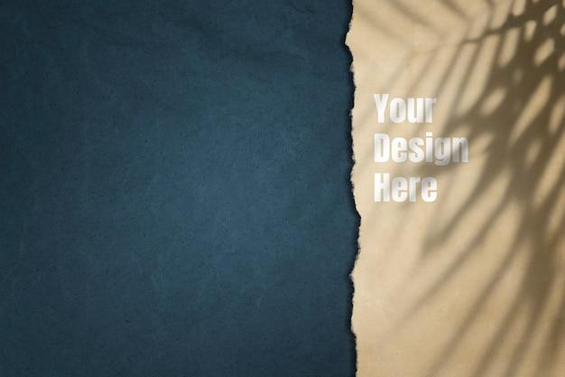紙のモックアップデザインの背景 無料 Psd