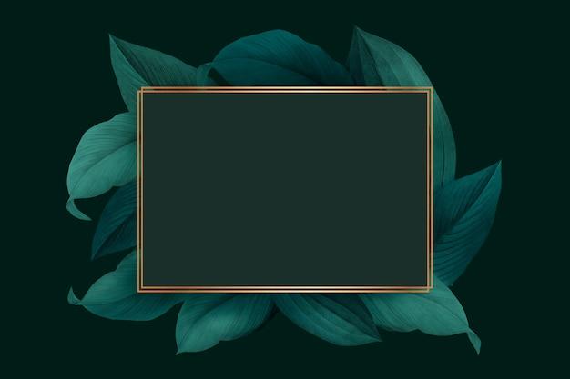 葉装飾フレーム 無料 Psd