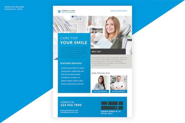 Шаблон флаера для стоматологической клиники Бесплатные Psd