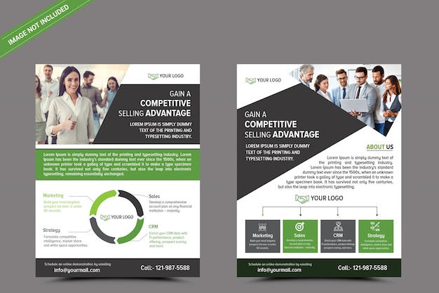 Шаблон бизнес-флаера Premium Psd