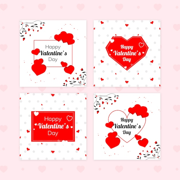 Набор баннеров для продажи валентина Premium Psd