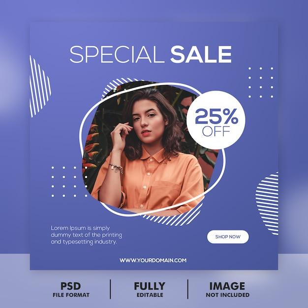 ファッションバナーソーシャルメディアの投稿 Premium Psd