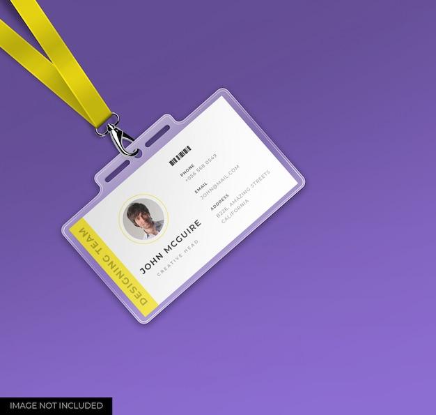 Корпоративный офис удостоверение личности с макетом Premium Psd