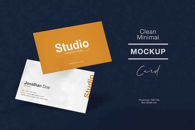 Чистый минимальный макет визитки Premium Psd