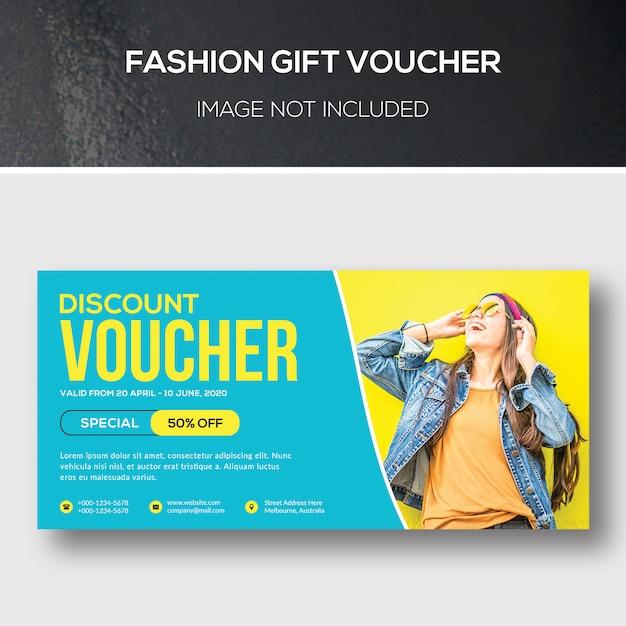 Модный подарочный ваучер Premium Psd