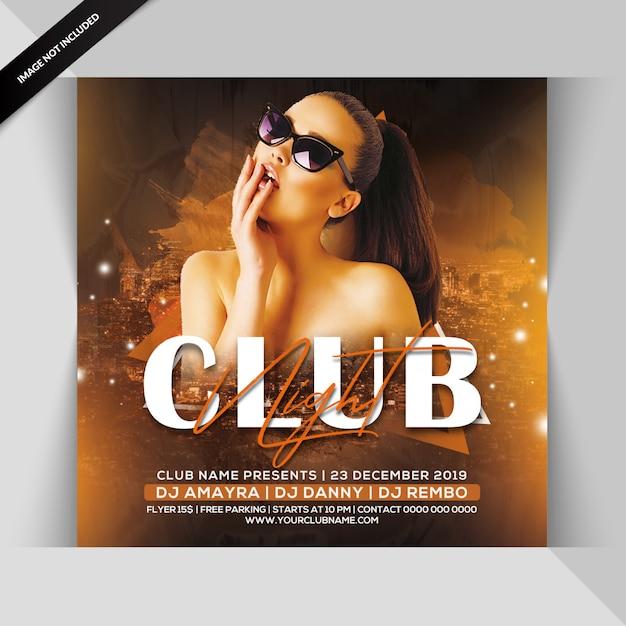 Клуб ночной вечеринки флаер Premium Psd
