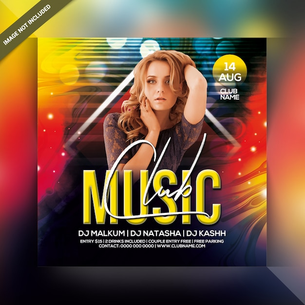 ミュージッククラブパーティーフライヤー Premium Psd