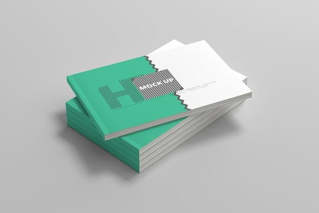Горизонтальный макет обложки журнала Premium Psd