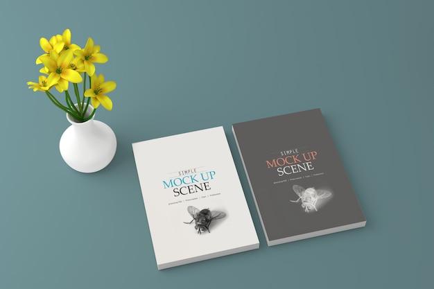 Макет книжного обложки Premium Psd