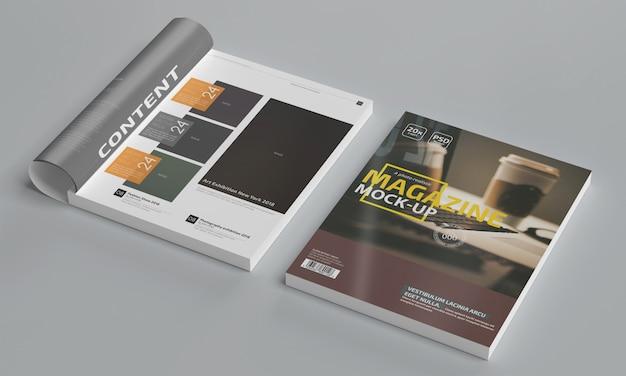 Макет фотореалистичного журнала Premium Psd