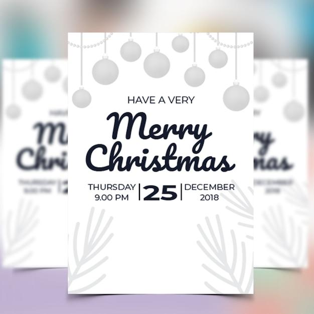 クリスマスパーティーチラシ Premium Psd
