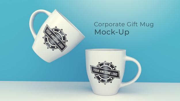 現代の企業ギフトマグカップモックアップ Premium Psd