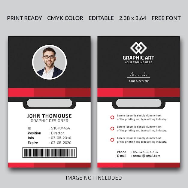 Шаблон корпоративной идентификационной карты Premium Psd