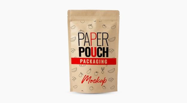 コーヒーバッグペーパーポーチモックアップ Premium Psd