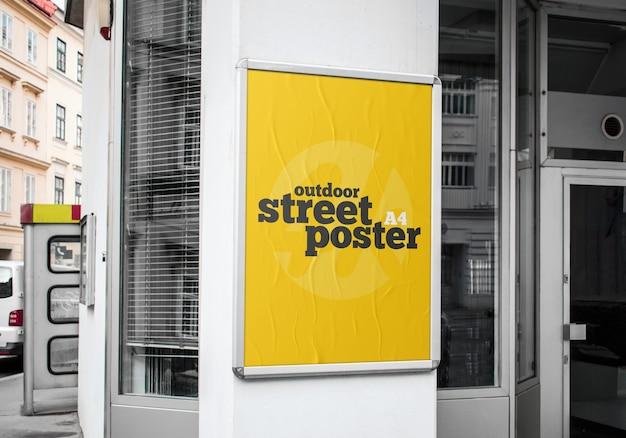 屋外ストリートポスターモックアップ Premium Psd