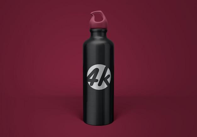 Алюминиевый макет бутылки с водой Premium Psd