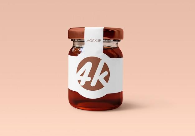 Мед стеклянная банка макет Premium Psd