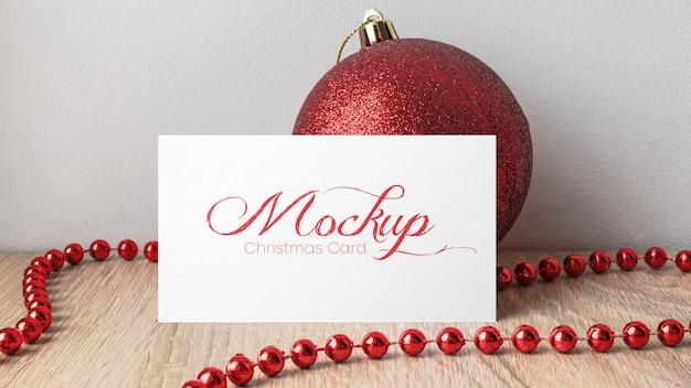Рождественская открытка макет Premium Psd
