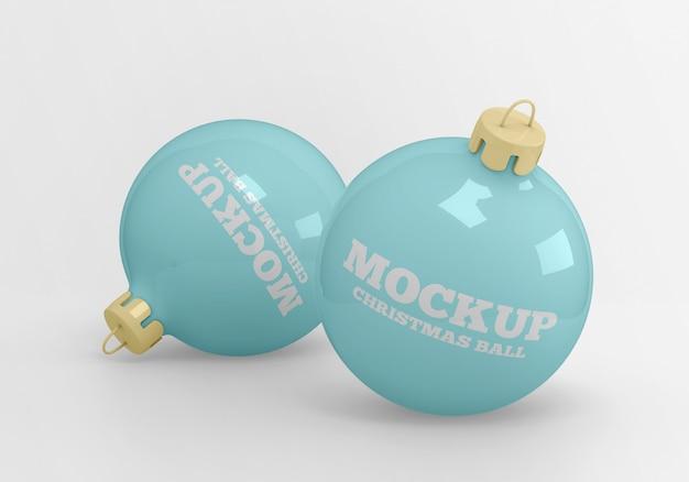 クリスマスボールのモックアップ Premium Psd