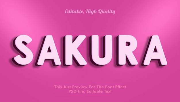 Макет эффекта шрифта сакуры Premium Psd