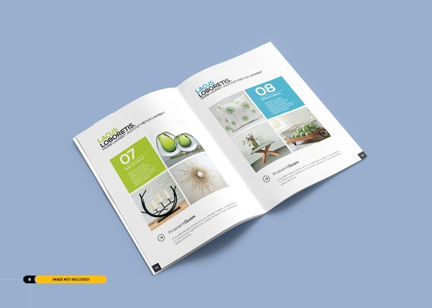 パンフレット雑誌のモックアップ Premium Psd