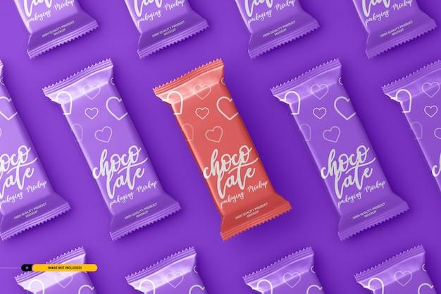 チョコレートスナックバー包装モックアップ Premium Psd