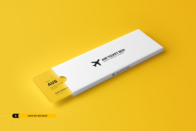 パッケージ内の飛行機チケットモックアップ Premium Psd