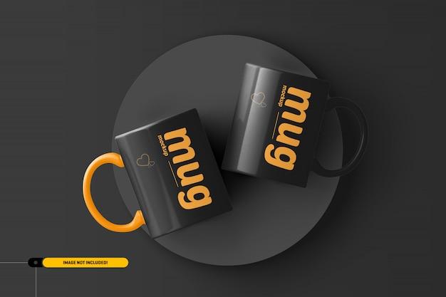 コーヒーカップ。マグモックアップ Premium Psd