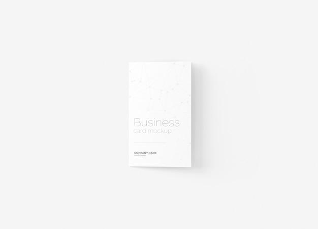 Сложенный макет визитки Premium Psd