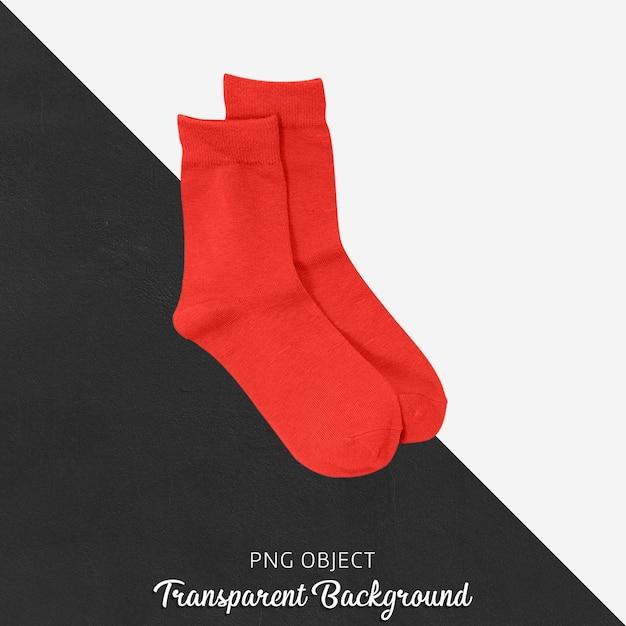 透明な赤い靴下 Premium Psd