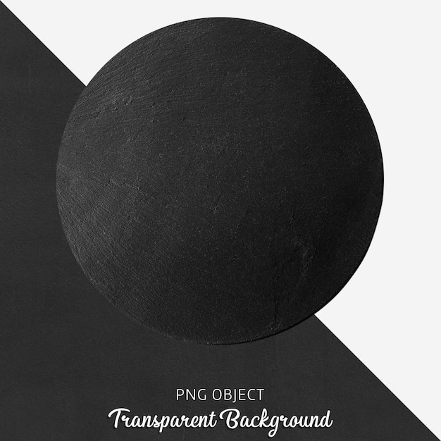 Прозрачная черная круглая сервировочная тарелка Premium Psd