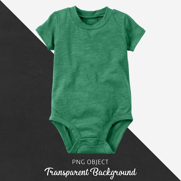 赤ちゃんや子供のための透明なグリーンボディースーツ Premium Psd