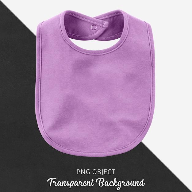 赤ちゃんや子供のための透明な紫色のよだれかけ Premium Psd