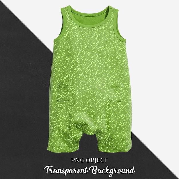 赤ちゃんや子供のための透明な緑色のジャンプスーツ Premium Psd