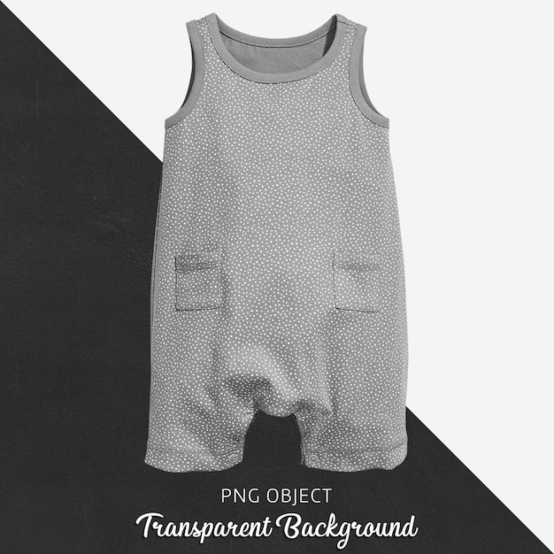 赤ちゃんや子供のための透明なグレーのジャンプスーツ Premium Psd