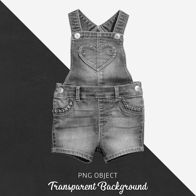 赤ちゃんや子供のための透明なブラックジーンズジャンプスーツ - フロント Premium Psd