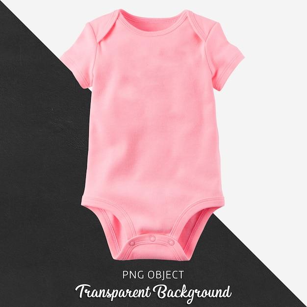 透明な背景に赤ちゃんのためのピンクのボディスーツ Premium Psd