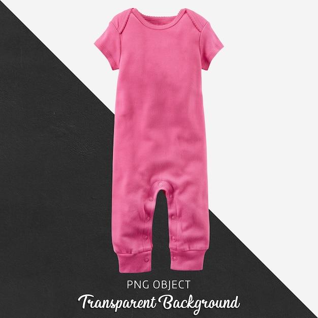 赤ちゃんや子供たちの透明な背景にピンクのジャンプスーツ Premium Psd