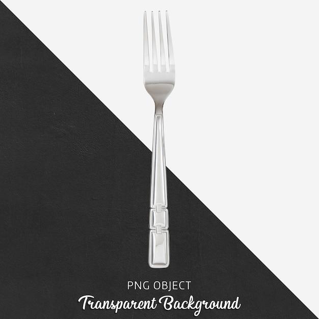 透明な背景に鋼のディナーフォーク Premium Psd