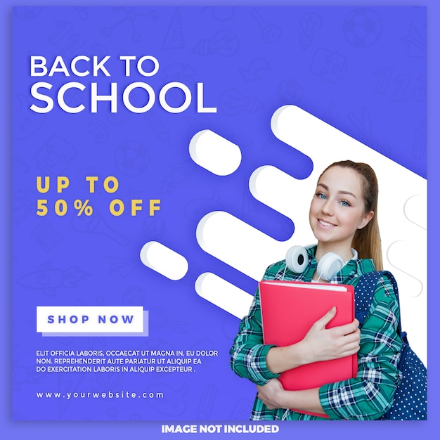 デジタルマーケティングの学校販売バナーに戻る Premium Psd