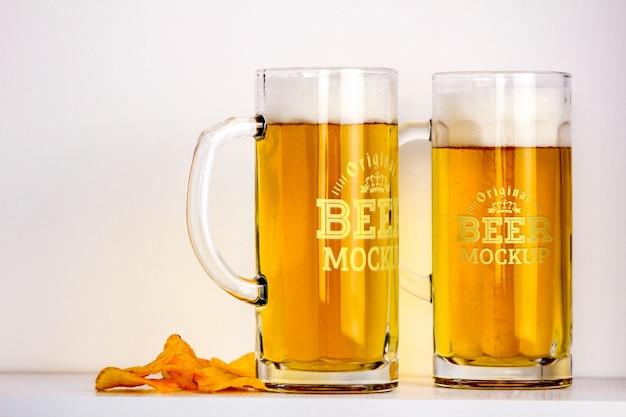 ビールモックアップ Premium Psd