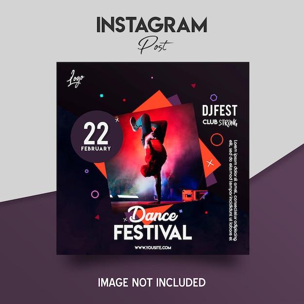 ダンスミュージックフェスティバルのチラシテンプレート Premium Psd
